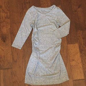Heather Grey Fitted Maternity Dress